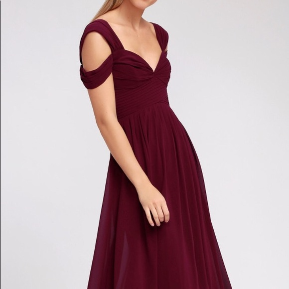 9a4e6f6b883 Lulus Burgundy Bridesmaid Dress